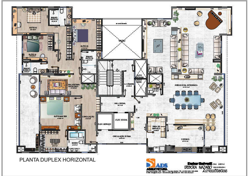 Planta duplex 350 m²